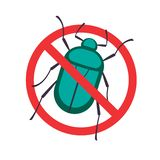 Rose Chafer icon stop sign. Rose Chafer icon. Lawn Pest Control Clipart image isolated on white background vector illustration