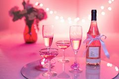 Rose champagne Royalty Free Stock Image