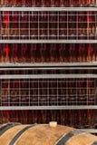 Rose Champagne Bottles in Ludes Immagine Stock Libera da Diritti