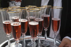 Rose Champagne Royalty Free Stock Photography
