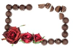 Rose and chocolate Royalty Free Stock Photos