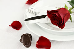 Rose and Chocolate Candy Stock Photos