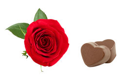 Rose and chocolates. Royalty Free Stock Image