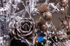 Rose, christmas tree decorations Stock Images