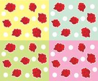 Rose circa i piselli su una priorità bassa di colore illustrazione di stock