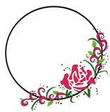Rose Circle Frame Royalty Free Stock Photos
