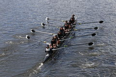 Rose City Rowing races in the Head of Charles Regatta Women's Youth Eights Stock Photography