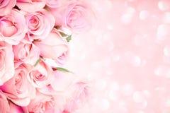 rose-clair doux sur le fond abstrait rose W d'éclairage Images libres de droits