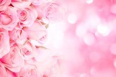 rose-clair doux sur le fond abstrait rose W d'éclairage Photos libres de droits