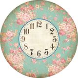 ROSE CLOCK ANTIQUE FRANCE. ROSE CLOCK ANTIQUE ROSE WALL CLOCK stock images