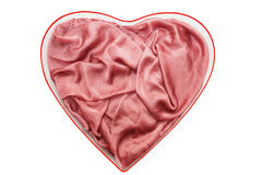 Rose cloth with folds on it Stock Image
