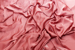 Rose cloth with folds on it Royalty Free Stock Photos