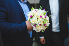 Rose and Clover Wedding Bouquet Royalty Free Stock Photo