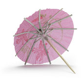 Rose cocktail umbrella Stock Photography