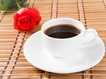 Rose and coffee Royalty Free Stock Photography