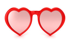 Rose colored glasses Stock Photography