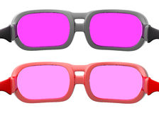 Rose colored glasses Stock Image