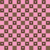 Rose colored pattern with hearts, cookies and wafers. Seamless  Royalty Free Stock Photography