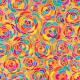 Rose colorful golden connect seamless pattern Royalty Free Stock Image
