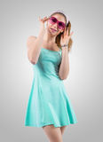 Rose-coloured spectacles Royalty Free Stock Photo