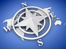 Rose compass. On white background. 3d Stock Images