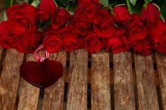 Rose con cuore Immagine Stock