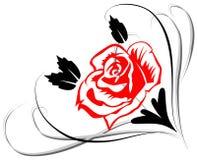 Rose con las hojas Fotos de archivo