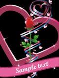 Rose con los corazones Imágenes de archivo libres de regalías