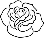 Rose contour Stock Photography