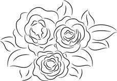 Rose contour Royalty Free Stock Image