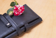 Rose and cosmetic bag Royalty Free Stock Photography