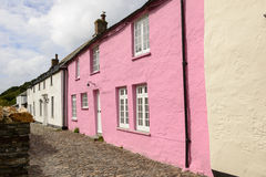 Rose cottage at Boscastle, Cornwall Stock Image