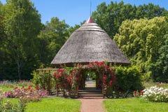 Rose cottage stock photo