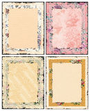 Rose and cream papers Stock Photo