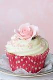 Rose cupcake Stock Photography