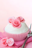 Rose cupcake Stock Images