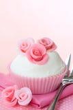 Rose cupcake Stock Images