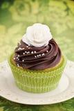 Rose cupcake royalty free stock image