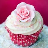 Rose cupcake Royalty Free Stock Photography