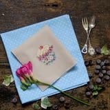 Rose cupcake Doily flower Stock Photos