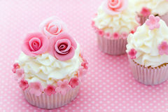 Rose cupcakes Royalty Free Stock Photography