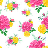 Rose cute pattern 4-01 Royalty Free Stock Photos