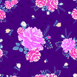 Rose cute seamless pattern7-01 Stock Images