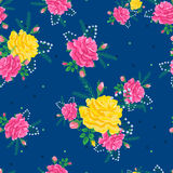 Rose cute seamless pattern2-01 Royalty Free Stock Photo