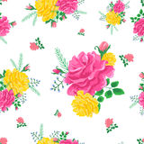 Rose cute seamless pattern3-01 Royalty Free Stock Images