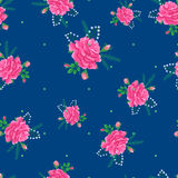Rose cute seamless pattern-01 Stock Photo