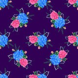 Rose cute seamless pattern6-01 Royalty Free Stock Photo