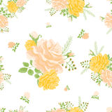 Rose cute seamless pattern4-01 Royalty Free Stock Photography
