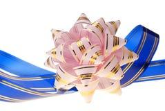 rose décoratif bleu d'ornement de fond Photo stock