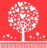 Rose d'arbre de Valentine Illustration de Vecteur